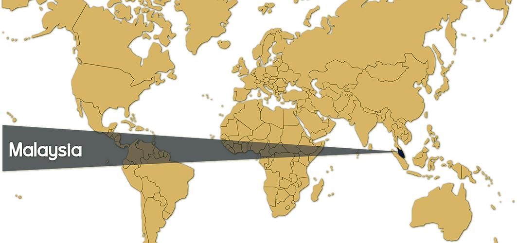 World Map - Malaysia