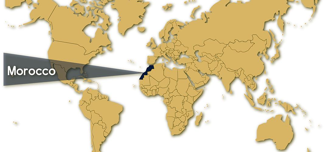 World Map - Morocco
