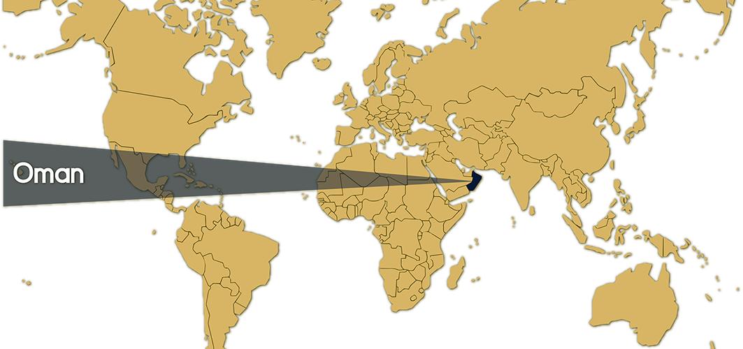 World Map - Oman